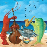 Seafood Blues & Jazz Festival art poster