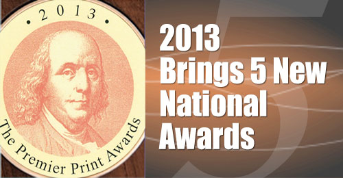 2013 Brings 5 New National Awards